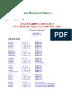 CALENDARIO CATADOR 2013