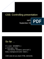 Lecture 09 - CSS II