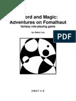 Emdt 2e Sword and Magic Adventures on Fomalhaut