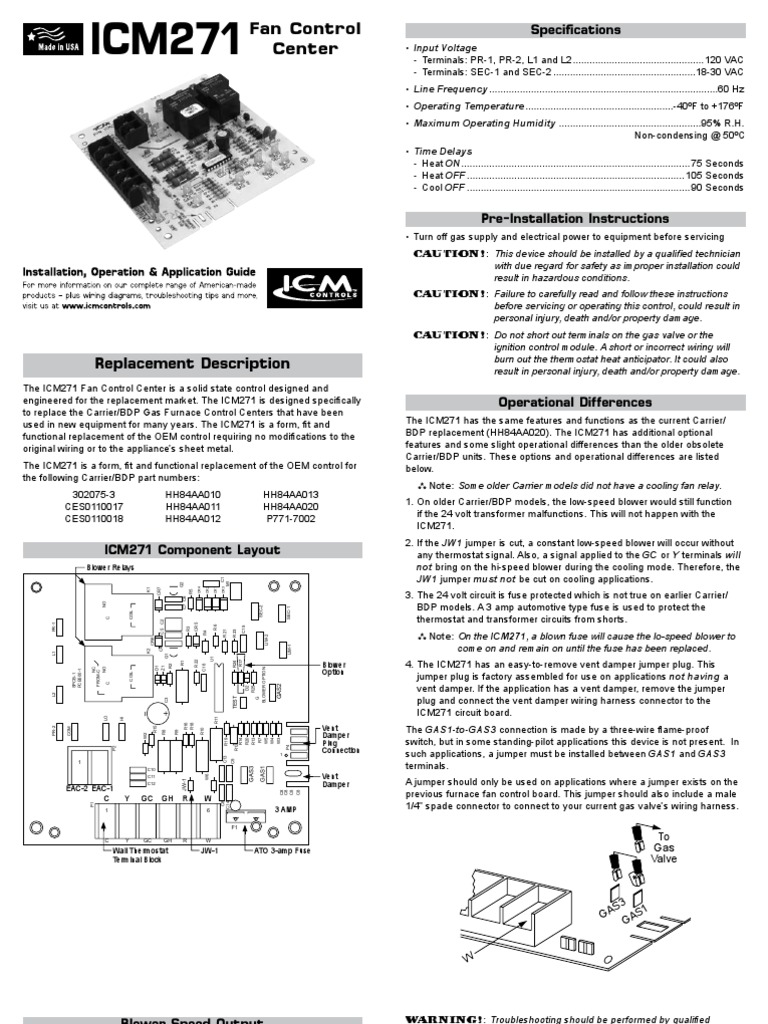 Furnace Replace Carrier 302075 304 Board Ig Liaf044 1
