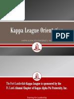 Kappa League Orientation Final