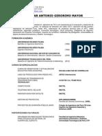 CV Cesar Geronimo Mayor 2013