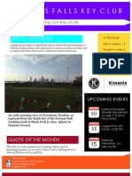 Cypress Falls Key Club July Newsletter