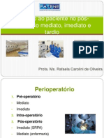Cuidado ao paciente no pós-operatório mediato, imediato