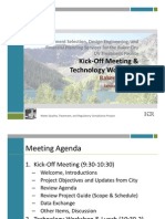 UV Kick‐Off Meeting & Technology Workshop, Baker City, OR, January 12, 2012