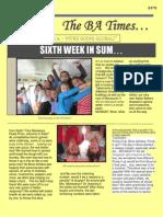 Bnos Achdus Newsletter Week 6