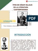 APORTES DE CÉSAR VALLEJO EN LA LITERATURA CONTEMPORÁNEA