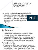Características de la planeación TIPOS