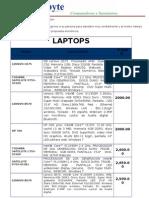 Laptops Megabyte PARA VENDER