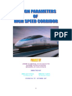 1design Parameters for High Speed Coridor