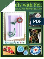 18 Crafts With Felt Simple Craft Ideas Felt Flowers More