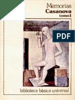 Giacomo Casanova - Historia de Mi Vida - Tomo 1