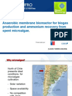 A¦ülvaro Torres - Anaerobic membrane bioreactor for biogas production and ammonium recovery from spent microalgae