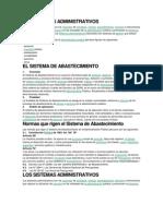 Los Sistemas Administrativos