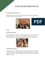 FESTIVIDADES DEL DEPARTAMENTO DE SAN MARTÍN