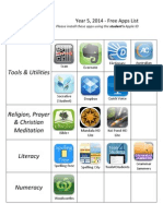 Year 5 Free Apps List - Initial