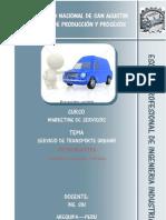 Analisis Del Servicio de Transporte Urbano