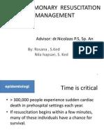 Cardiopulmonary Resuscitation & Management