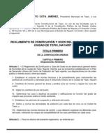 Reglamento de Zoonificacion y Uso de Suelo Para La Ciudad de Tepic, Nayarit