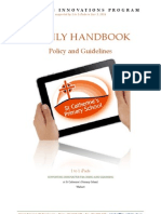 1 to 1 Parent Handbook 2014 - Policy and Guidelines