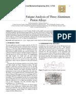 Thermal Cyclic Fatigue Analysis of Three Aluminum Piston Alloys