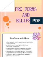 Pro Forms and Ellipsis