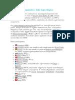 Principales países organizadores  de los fuegos olímpicos