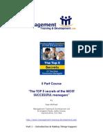 5 Secrets of Management - Part 1 - Introduction %26 Making Things Happen