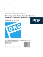 Proceedings of the FORS40 Workshop