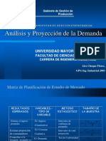 Analisis y Proyeccion de La Demandass