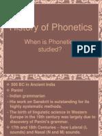 History of Phonetics