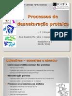 Processos de Desnaturação Proteica