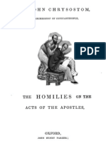 John Chrysostom Homillies on Acts of Apostles
