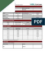 Auto Loan Sheet