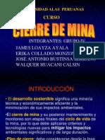 Plan de Cierre Mina