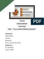 CSE318 - Term Paper