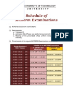 Midterm Schedule First Semester SY 2013-2014