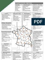 La Gastronomie Regionale Francaise Carte