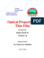 Optical Properties of Thin Film