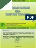 Eliminasi Gauss Dan Metode Cramer