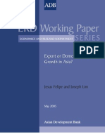 Export or Domestic-Led Growth in Asia?