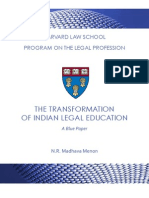 The Transformation of Indian Legal Education