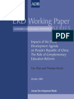 Impacts of the Doha Development Agenda on People's Republic of China