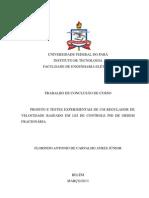 PROJETO E TESTES EXPERIMENTAIS DE UM REGULADOR DE VELOCIDADE BASEADO EM LEI DE CONTROLE PID DE ORDEM FRACIONÁRIA.(Versão_Ebah).pdf