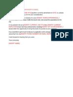 General Covering Letter Sample 1