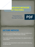 Authoritative Methods of Teaching