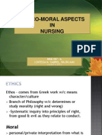 Ethico-moral Aspects of Nursing