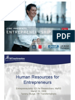 HRM for Entrepreneurs