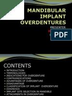 Mandibular Implant Overdentures