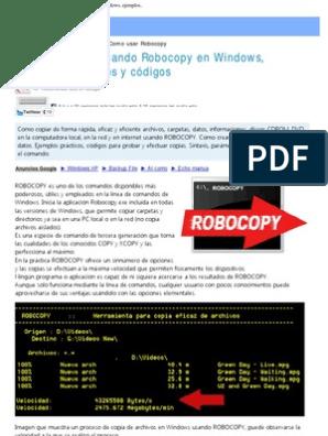 Usar El Comando Robocopy Para Hacer Copias en Windows